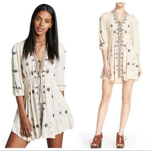 Free People Stargazer Embroidered Mini Dress